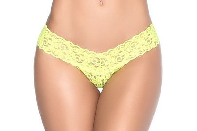 Yellow Lace Thong