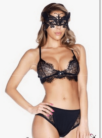 You Give Good Love Bralette & High Waisted Panty Set