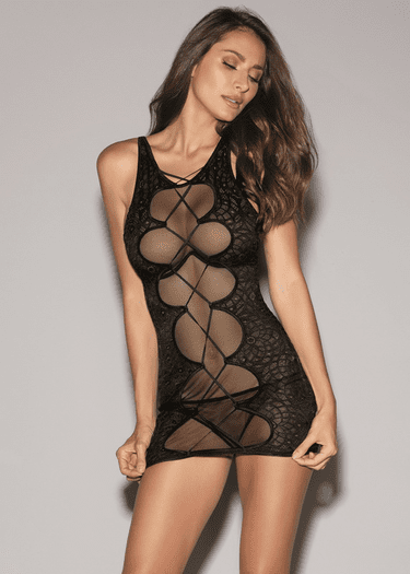 You're My Muse Fishnet Chemise & Thong Set