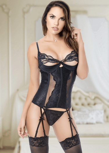 Your Wicked Game Lace Bustier & G-String Set