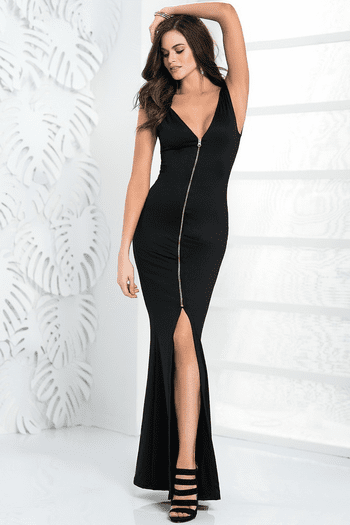 Zip Up Long Gown