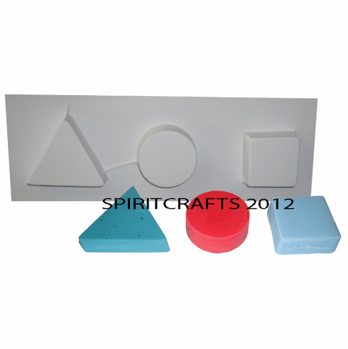 3 on 1 SOAP MOLD - TRIANGLE, SQUARE AND ROUND