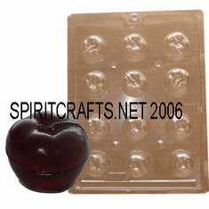 "3D APPLE CANDLE EMBED / CANDY MOLD (1.5"" DIA)"