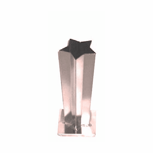 "5 POINT STAR TAPER CANDLE MOLD, 2.5"" x 3.75"" x 9.5"" (1 lb 4 oz)"