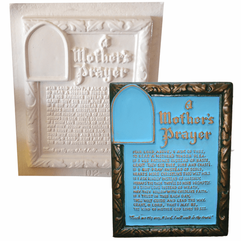 """A MOTHER'S PRAYER MOLD FOR PLASTER OF PARIS (8.5"""" x 10.5"""")"""