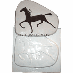 "ABSTRACT HORSE PLASTER MOLD (11"" x 9.25"")"