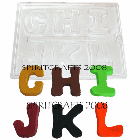 ALPHABET LETTERS CRAFT MOLD (G TO L)