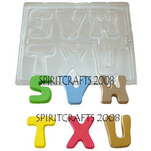 ALPHABET LETTERS CRAFT MOLD (S TO X)