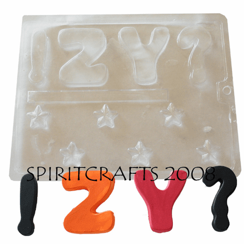 ALPHABET LETTERS MOLD (Z TO Y)