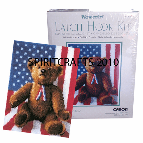 "AMERICAN BEAR LATCH  HOOK RUG KIT (20"" x 27"")"