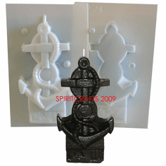 """ANCHOR CANDLE<br> MAKING MOLD (5.5"""" HT, 7 oz)"""