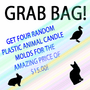 ANIMAL PLASTIC <BR>CANDLE MOLD GRAB<BR> BAG - FOUR MOLDS!