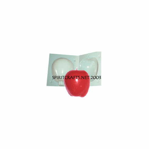 """APPLE CANDLE MAKING MOLD (3"""" HT, 11 oz)"""