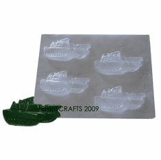 ARMY TANK CHOCOLATE / WAX MOLD, 4 WELL