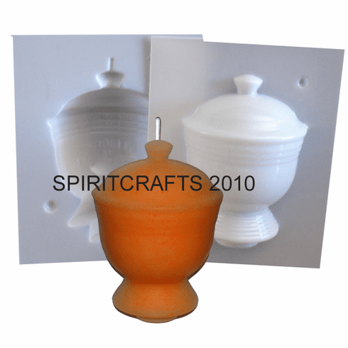 """ART DECO URN <br>CANDLE MOLD <br>(4.5"""" HT x 3.5"""" DIA)"""
