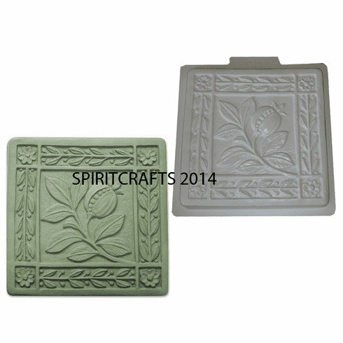 "ART NOUVEAU FRUIT STEPPING STONE MOLD (16"" DIA)"
