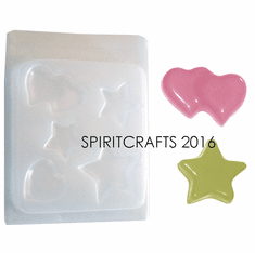 ASSORTED HEARTS AND STARS RESIN MOLD (5 STYLES)