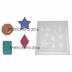 ASSORTED JEWELS RESIN CRAFT MOLD (11 ON 1 - STARS AND SHAPES)
