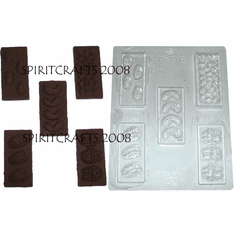 ASSORTED NUT CHOCOLATE BARS MOLD (5 WELL)