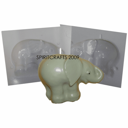 "BABY ELEPHANT CANDLE MAKING MOLD (3.75"" HT, 1 lb)"