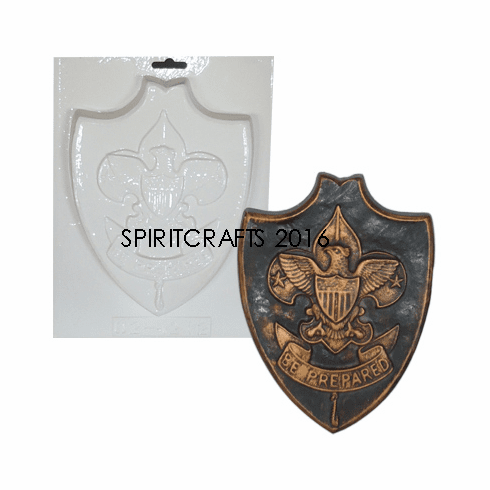 """BE PREPARED BOY SCOUT PLASTER CRAFT MOLD (6.5"""" x 8.75"""")"""