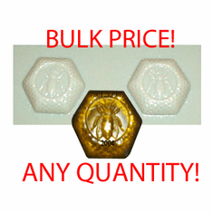 BEESWAX<br>  CANDLE / SOAP MOLD, 2 ON 1