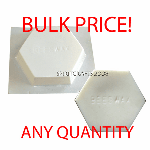 "BEESWAX WAX BLOCK MOLD, 1 LB (6"" DIA)"