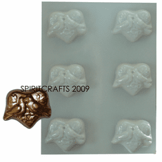 BIRD OF PARADISE SOAP MAKING MOLD, 6 WELL