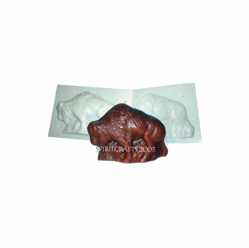"""BISON BUFFALO<BR> CANDLE MAKING MOLD<BR> (4"""" HT, 1 lb)"""