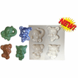BOW TIE ANIMALS SOAP MOLD, 4 ON 1