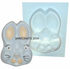 "BUNNY FACE PLASTER CASTING MOLD (4.5"" x 6.5"")"