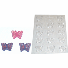 BUTTERFLY CANDLE EMBED / CANDY MOLD, 14 WELL