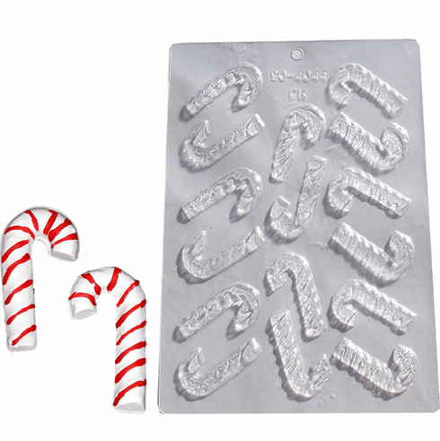 CANDY CANE CHOCOLATE OR EMBED MOLD (16 WELL)