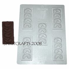 CASHEW CHOCOLATE BARS FOOD MOLD (5 WELL)