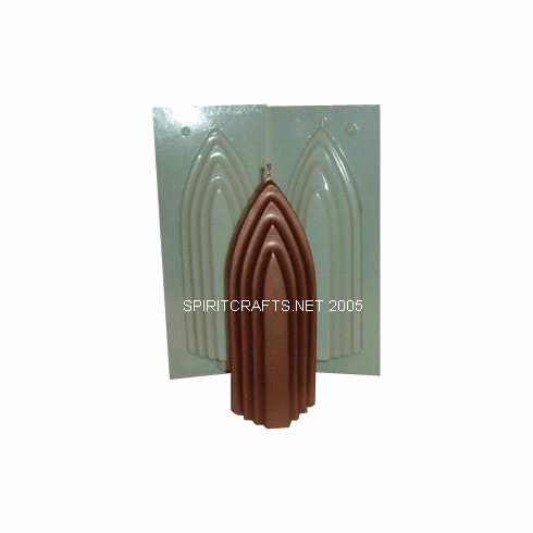 """CATHEDRAL PILLAR CANDLE MAKING MOLD (9"""" HT, 1 lb 7 oz)"""