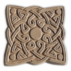 "CELTIC SQUARE STEPPING STONE MOLD (15.5"" DIA)"