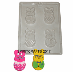 CHOCOLATE COVERED PEEPS CANDY MOLD (4 WELL)