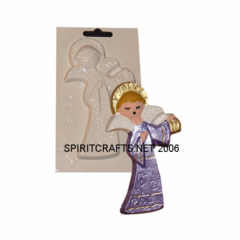 """CHOIR ANGEL WITH BELL PLASTER MOLD (5"""" x 3"""")"""