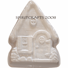 "CHRISTMAS COTTAGE CAKE PAN MOLD (8"" x 12"")"