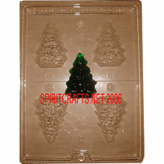 CHRISTMAS TREE CANDLE EMBED / CANDY MOLD