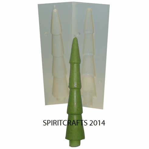 "CHRISTMAS TREE TAPER CANDLE MOLD (9.25"", 6 oz)"