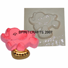 "CIRCUS ELEPHANT PLASTER CASTING MOLD (3.5"" x 3"")"