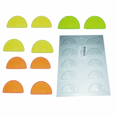 CITRUS SLICES CANDLE EMBED / CANDY MOLD (10 WELL)