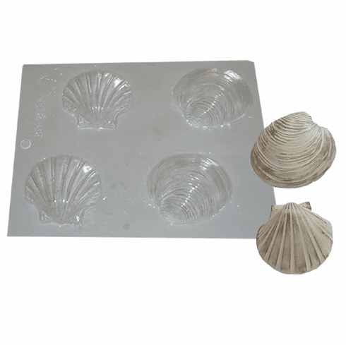 CLAM SHELLS (4 ON 1) CANDY OR EMBED MOLD