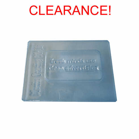 """CLEARANCE CLEAN ADVERTISING SOAP MOLD (3 1/2"""")"""