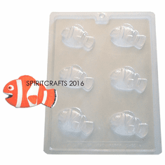 CLOWN FISH CHOCOLATE CANDY MOLD (6 WELL)