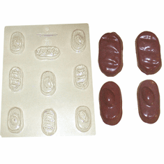 COCONUT OR ALMOND BAR MOLD, 9 WELL