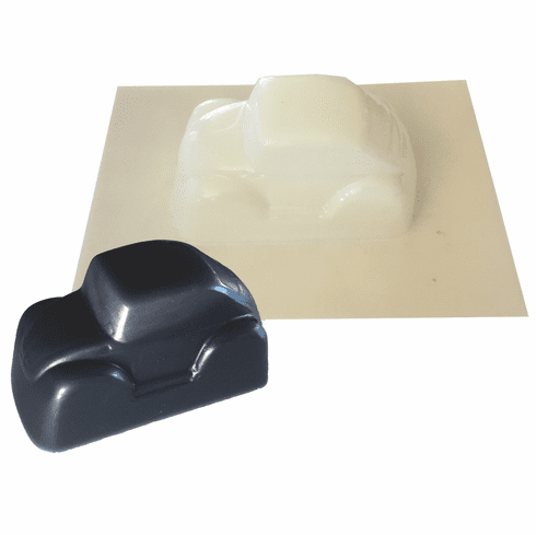 """COMPACT CAR SOAP OR CANDLE MOLD (4"""" X 2"""", 5 oz)"""