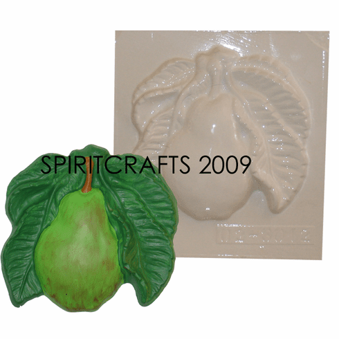 """COUNTRY PEAR PLASTER MOLD (6.75"""" DIA)"""