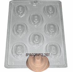 COWBOY HAT CANDLE EMBED / CANDY MOLD (8 WELL)
